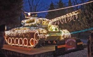 Tank With Christmas Lights